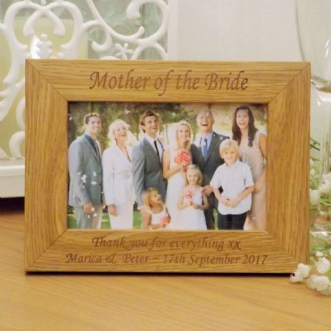 Mother of the Bride Wooden Photo Frame Personalised Wedding Gift